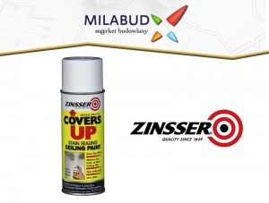 Zinsser Covers Up Spray na poprawki i plamy 385ml
