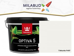 Tikkurila Optiva 5 Matt 2,7l kolor F497 Paper