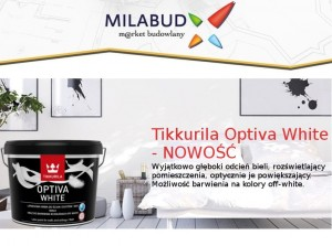 Tikkurila Optiva White 9l biała i 19 odcieni off-white