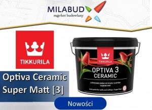 Tikkurila Optiva 3 Ceramic Super Matt 9l głęboki mat