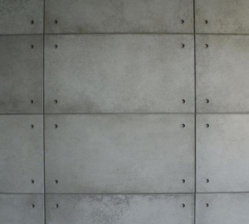 Beton architektoniczny - odciski kotew