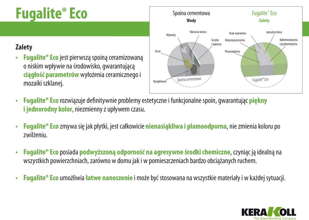 Ceramiczna fuga Fugalite Eco - zalety