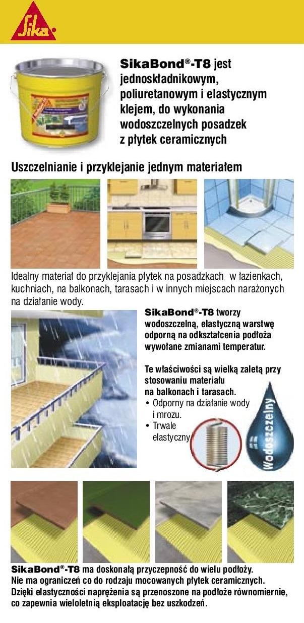 Sikabond T8 - wodoszczelny klej do płytek